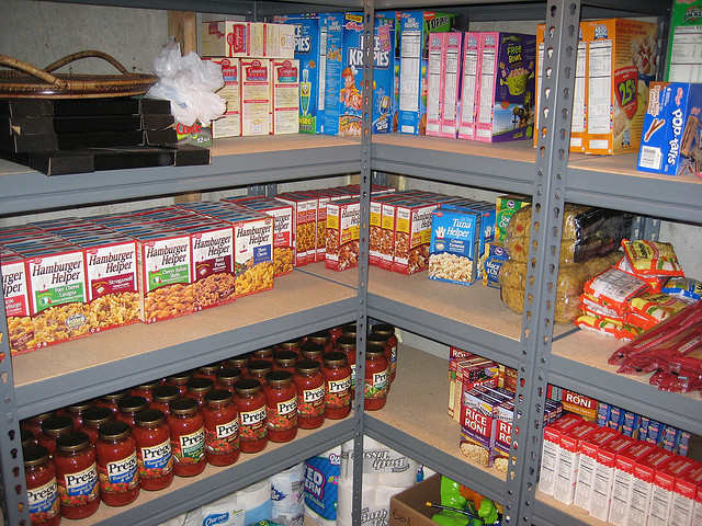 where to store emergency food
