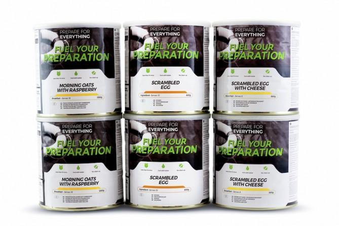 Breakfast '6 Tin' Emergency Food Pack