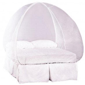 Double popup dome mosquito net tent