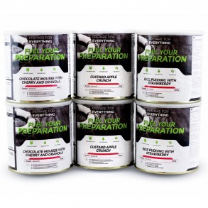 Fuel Your Preparation Emergency Food Storage Freeze Dried Food - Vegetarian 6 Meal Pack Small