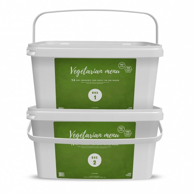 14 Day 'Natural' Emergency Food Pack - VEGETARIAN (ANTICIPATED 2 WEEK SHIPPING)