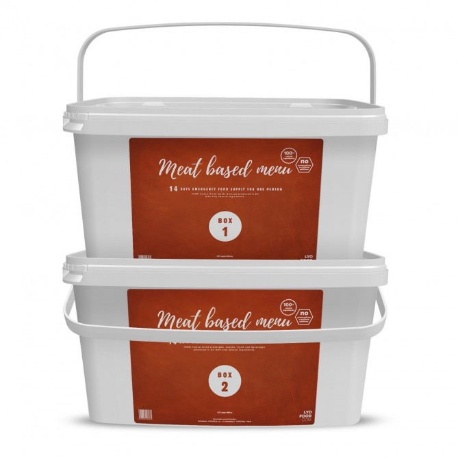 14 Day 'Natural' Emergency Food Pack - MEAT (ANTICIPATED 2 WEEK SHIPPING)